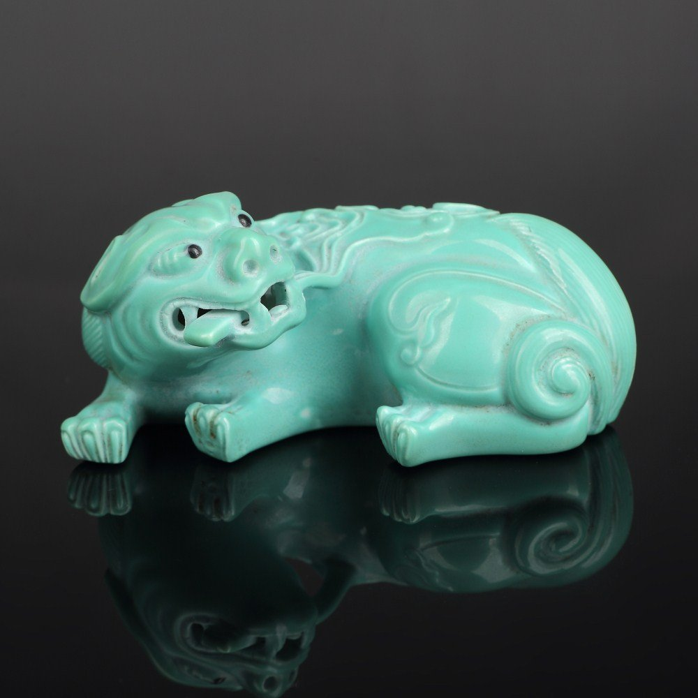 Fine Chinese Green Porcelain Dragon