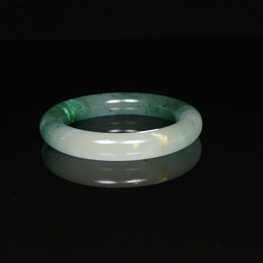 Chinese Jade Bangle Bracelet - 2