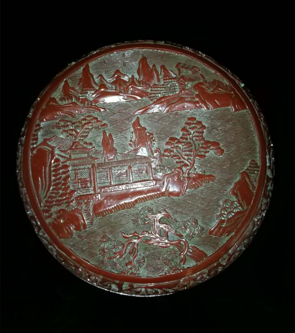 Chinese Red carving Lacquer Box