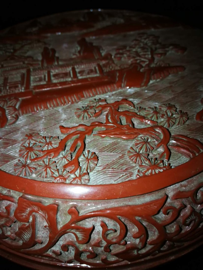 Chinese Red carving Lacquer Box - 2