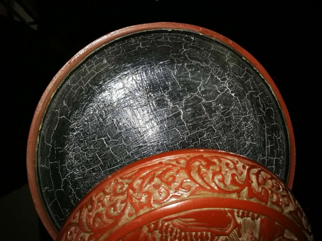 Chinese Red carving Lacquer Box - 3
