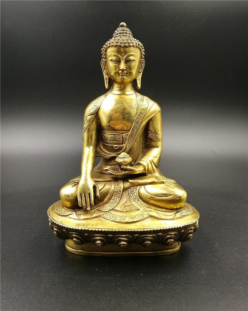 Chinese Gilt Bronze Buddha Sakyamuni