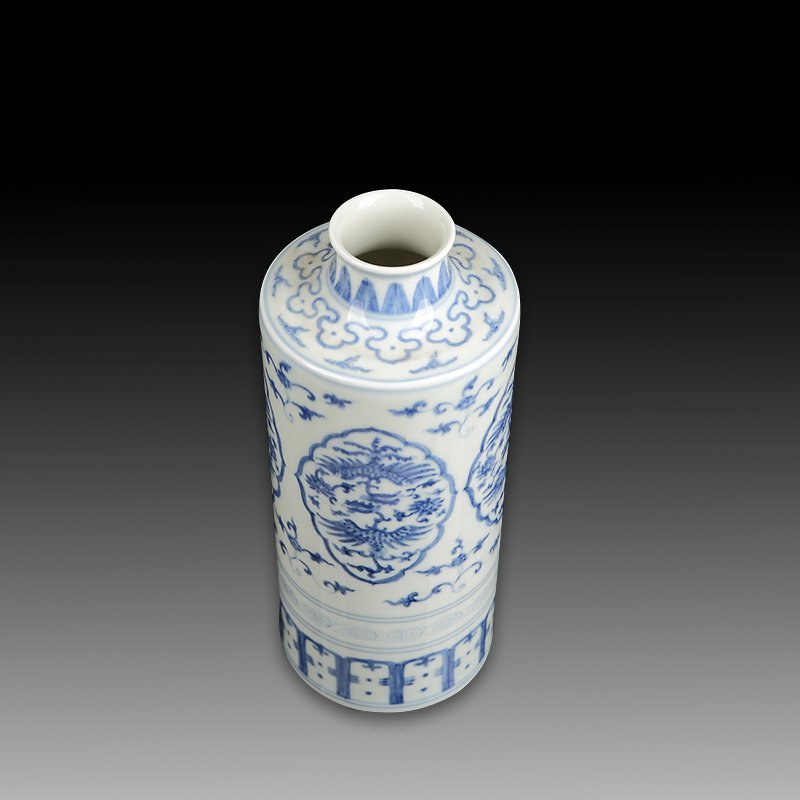 Chinese Antique Blue And White Porcelain Vase - 5