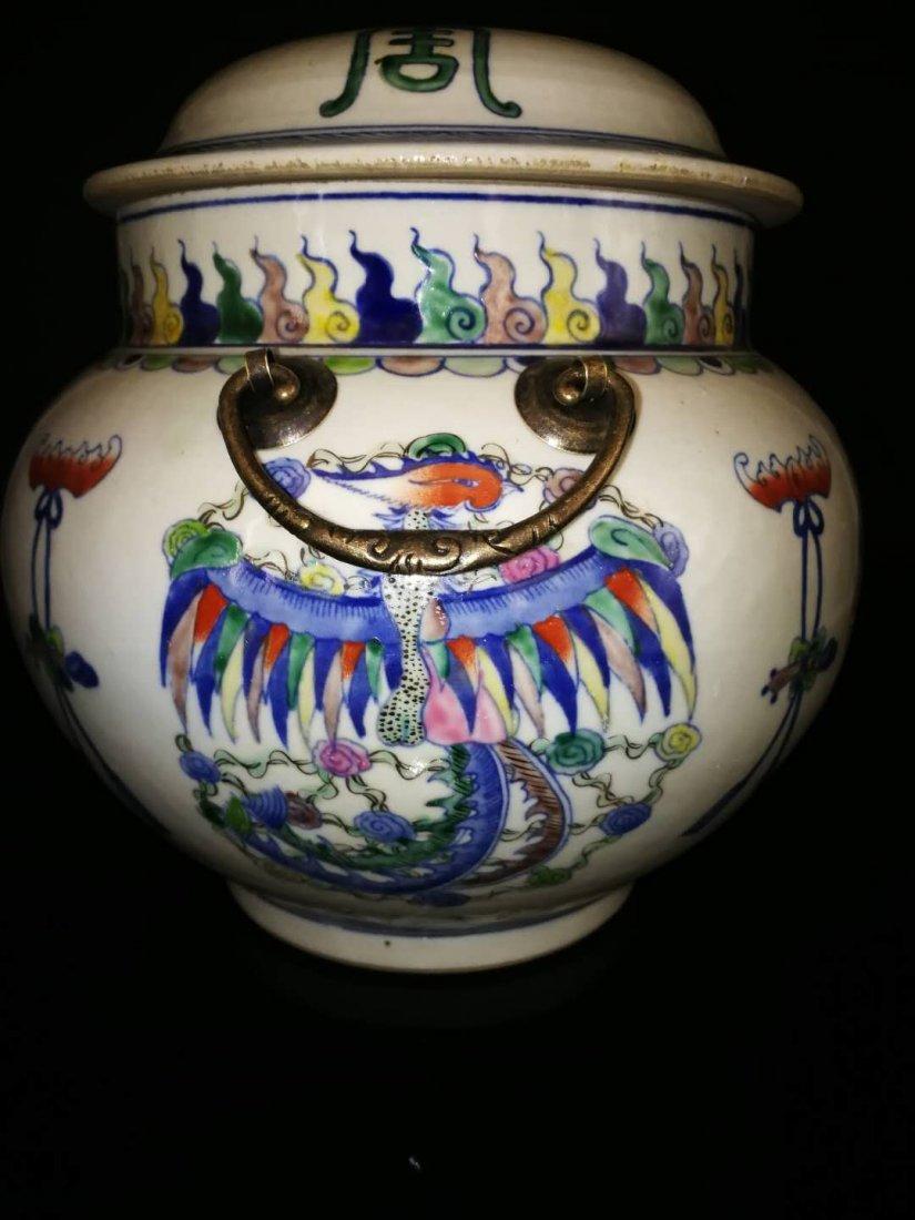 Chinese Doucai Porcelain Ginger Jar - 4