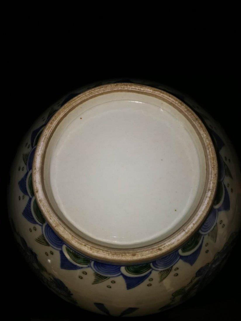 Chinese Doucai Porcelain Ginger Jar - 6