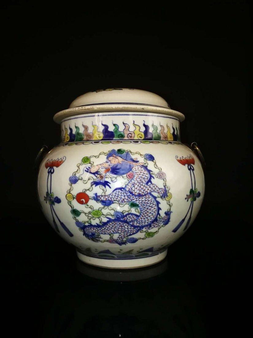 Chinese Doucai Porcelain Ginger Jar - 7