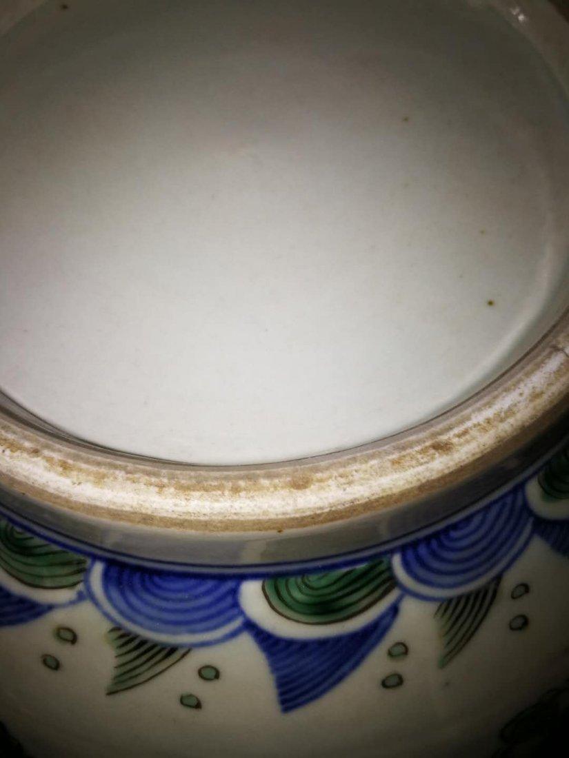 Chinese Doucai Porcelain Ginger Jar - 8