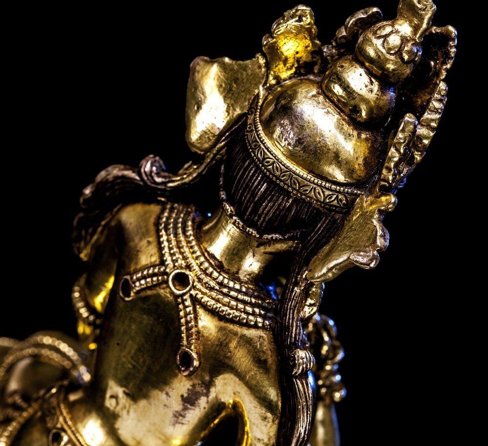 Chinese Ming Bronze Buddha Figure - 2