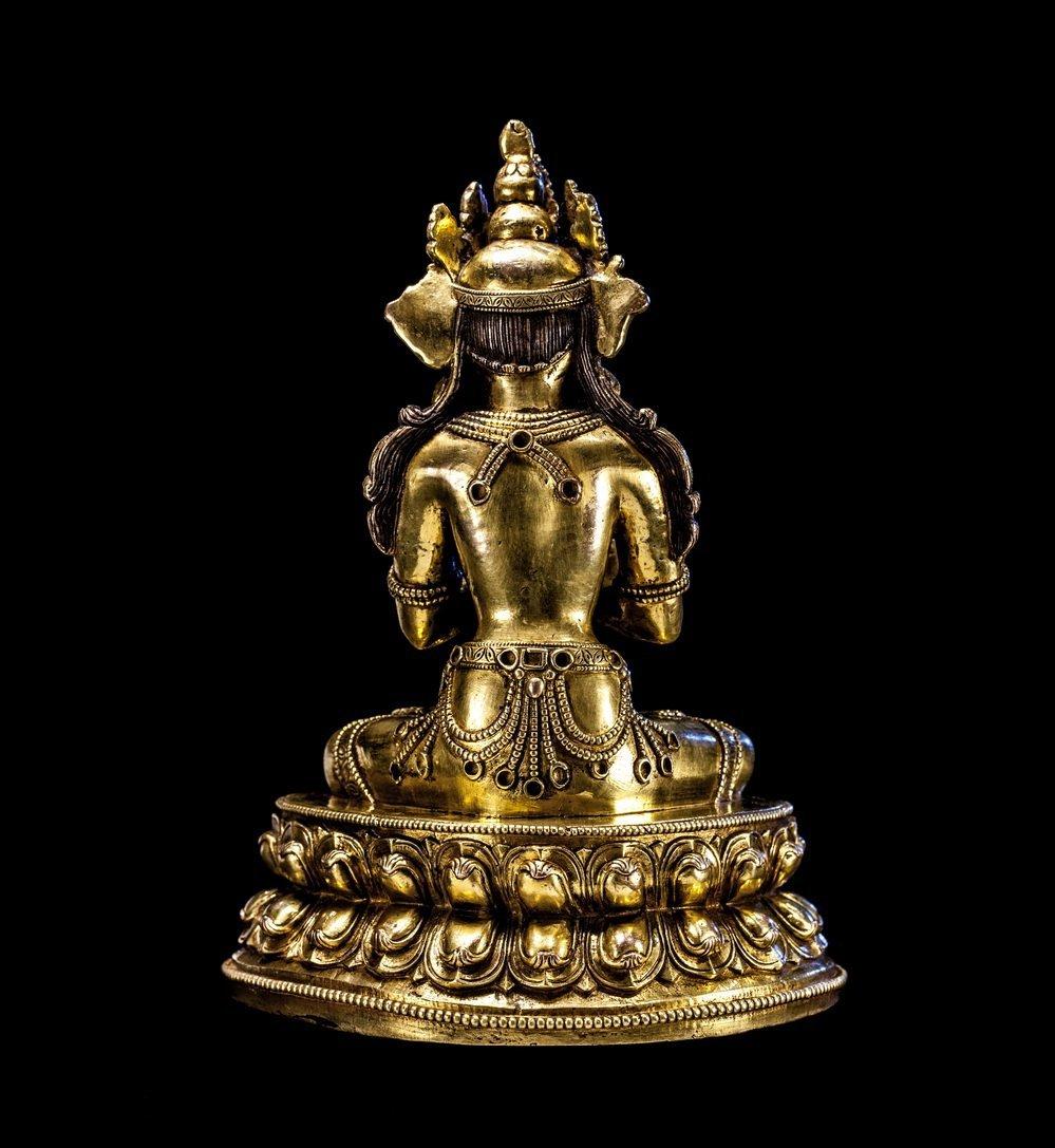Chinese Ming Bronze Buddha Figure - 5