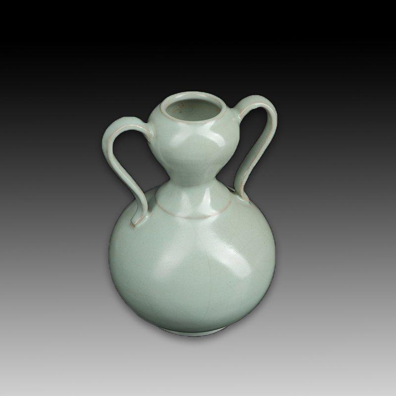 Chinese Ru kiln Two ears Porcelain Vase - 5