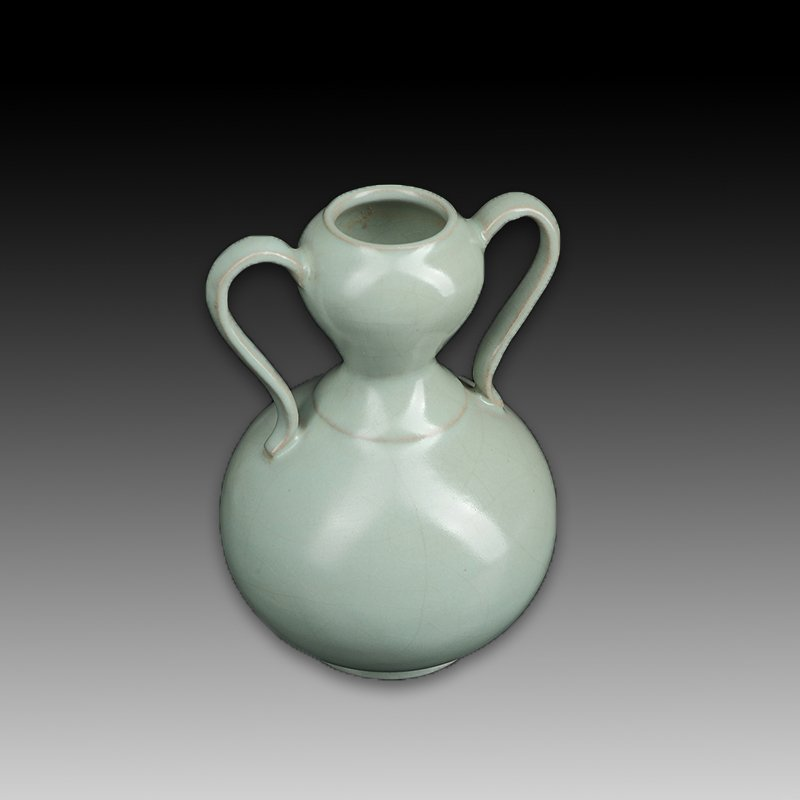 Chinese Ru kiln Two ears Porcelain Vase - 5
