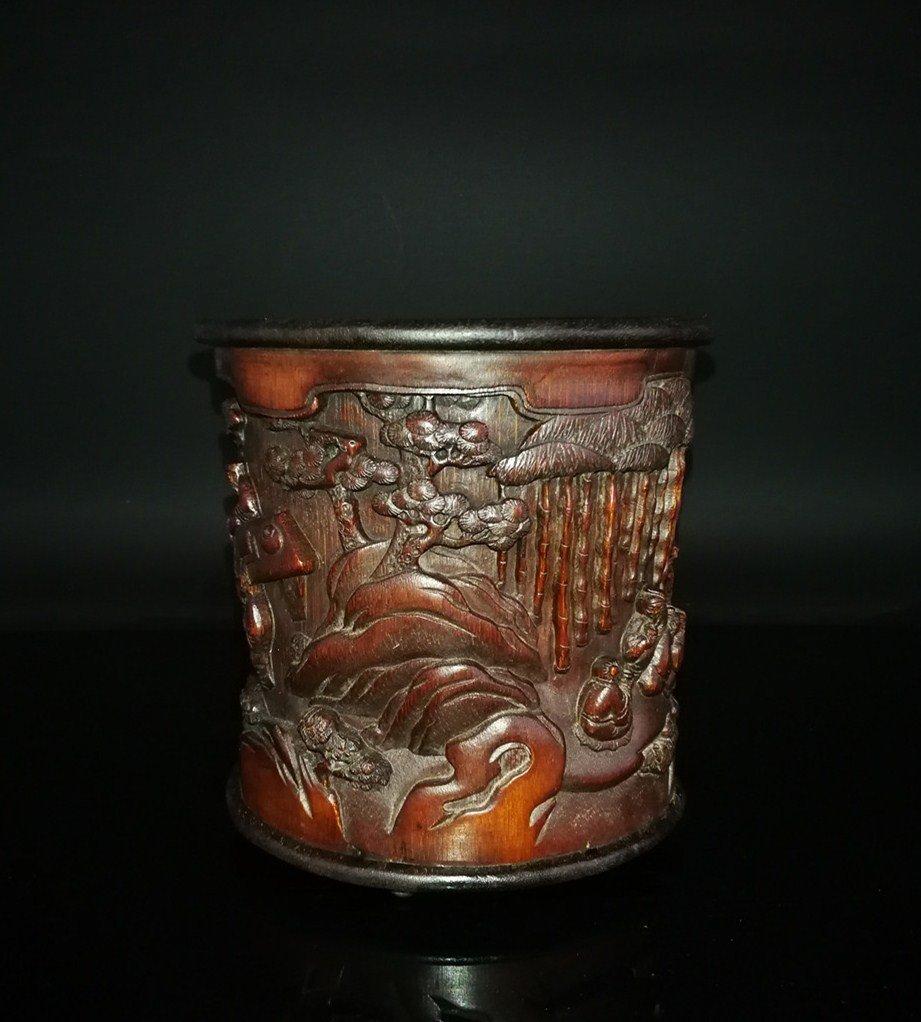 Chinese carved spinach jade book - 8