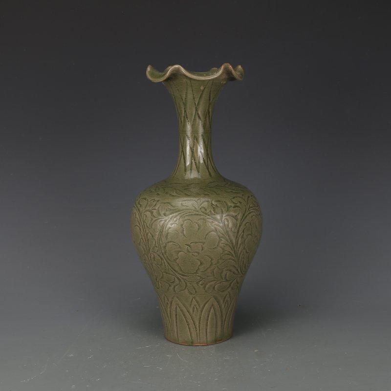 Chinese Yaozhou kiln Sculpture Porcelain Vase
