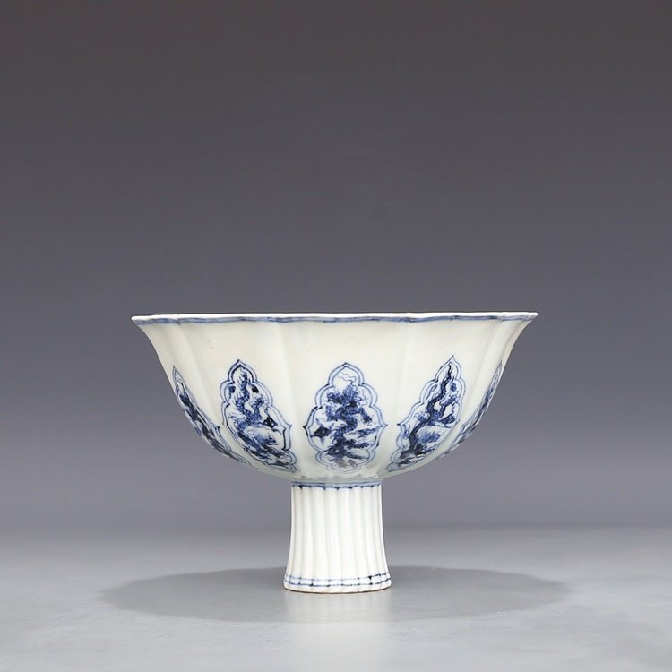 Chinese Blue And White Porcelain Footed bowl