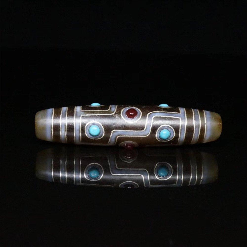 Vintage Tibet DZI Agate Lucky Pendant