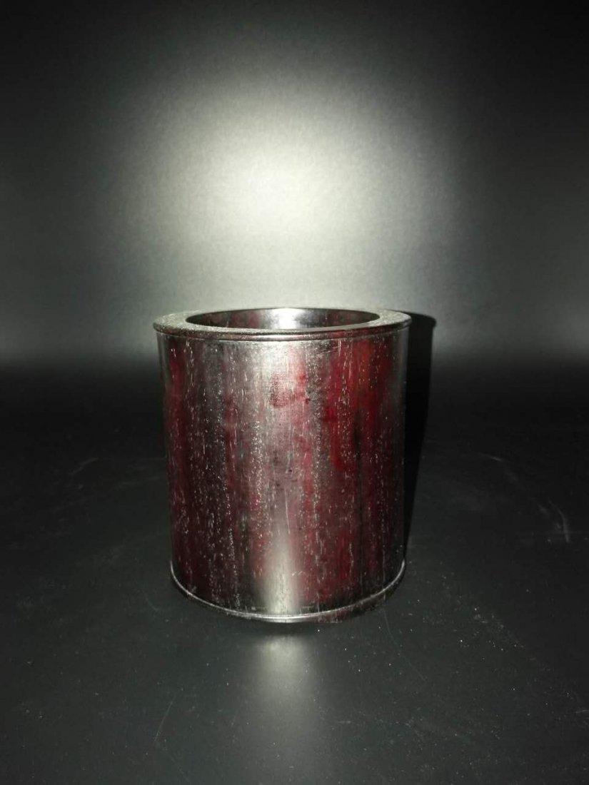 Chinese Red sandalwood Brush Pot