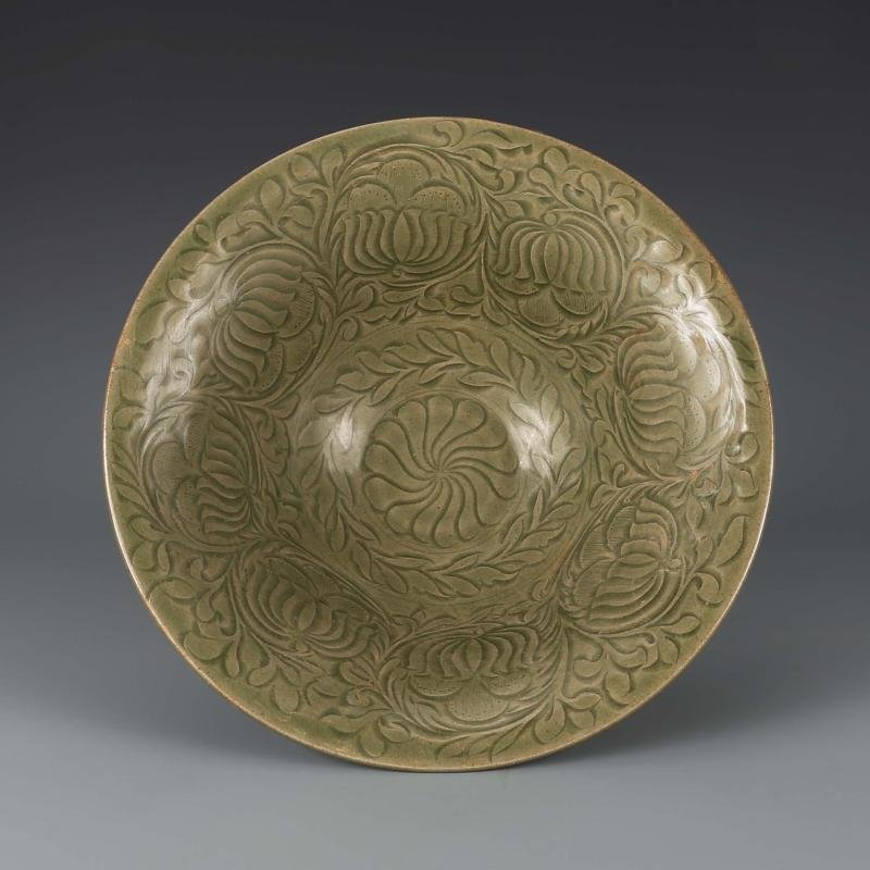 Chinese  Yaozhou kiln Sculpture Porcelain Bowl