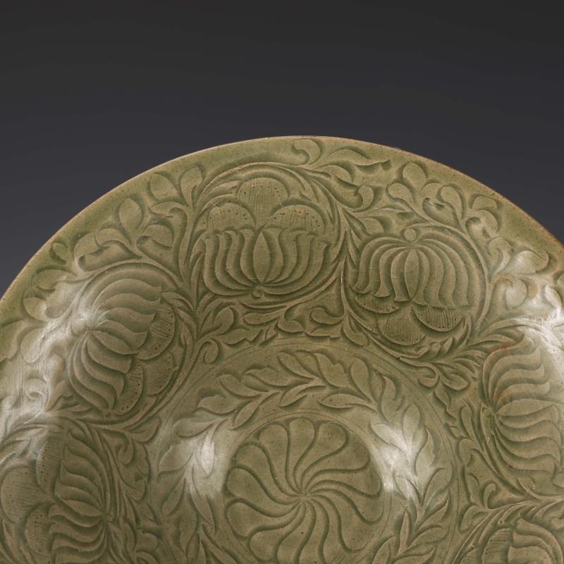 Chinese  Yaozhou kiln Sculpture Porcelain Bowl - 3