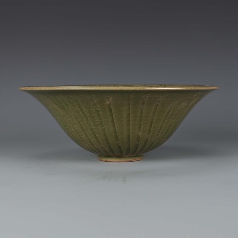 Chinese  Yaozhou kiln Sculpture Porcelain Bowl - 6