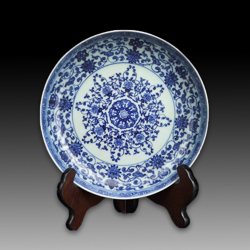 Chinese Blue And White Porcelain Plate - 4