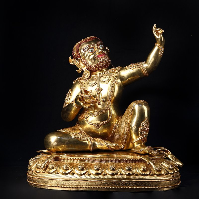 Chinese Antique Gilt Bronze Seated Buddha