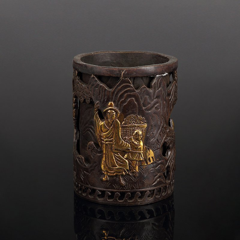 Chinese Bronze Brush Pot - 2