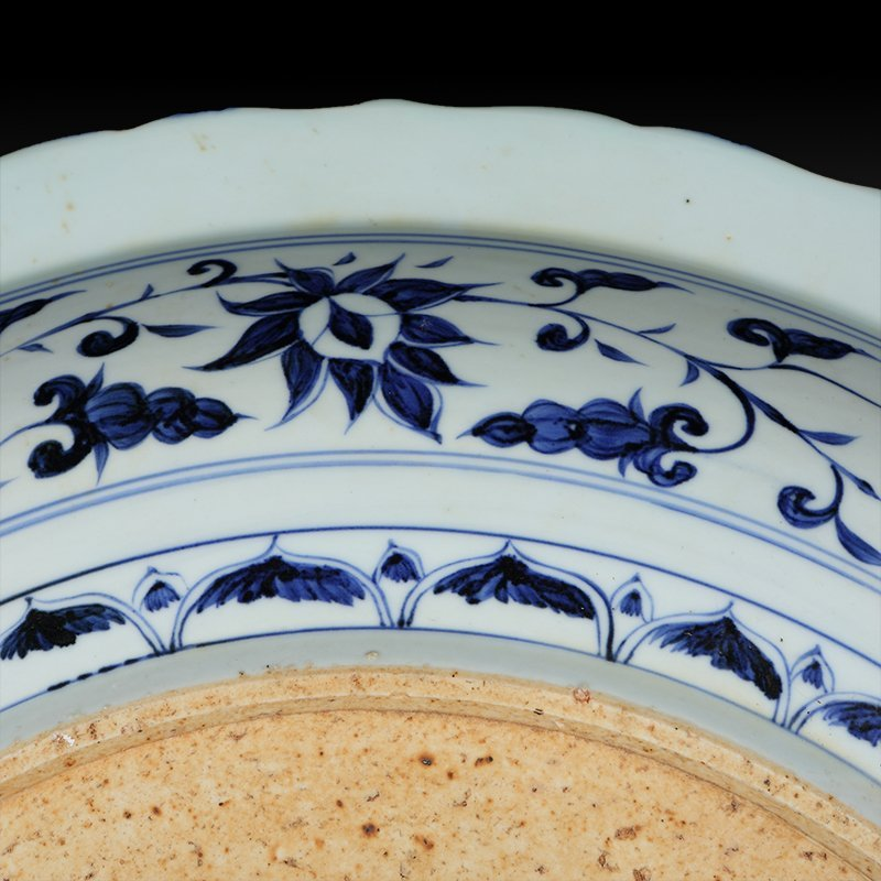 Large Chinese Blue And White Dragon Porcelain Plate - 4