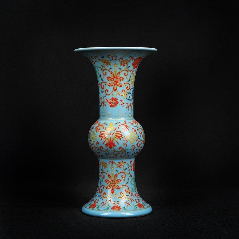Chinese Colored enamel Porcelain Vase - 5