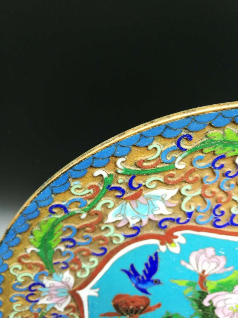 Chinese Cloisonne fast Plaque - 2