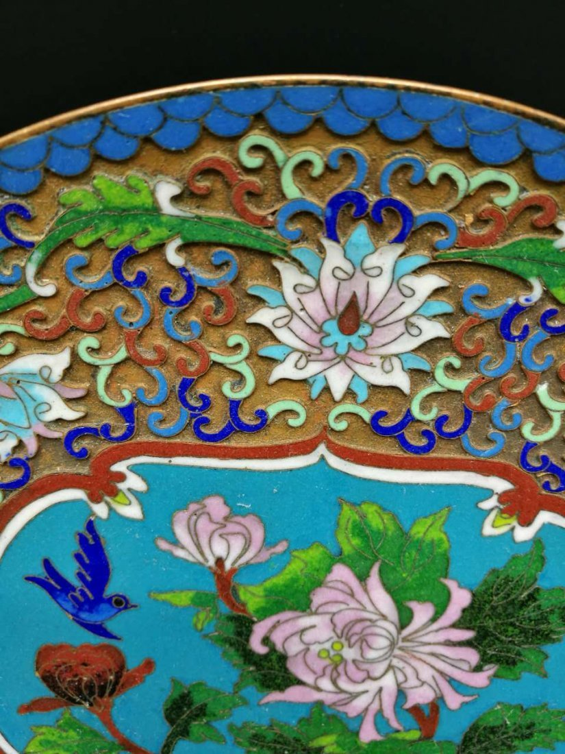 Chinese Cloisonne fast Plaque - 3