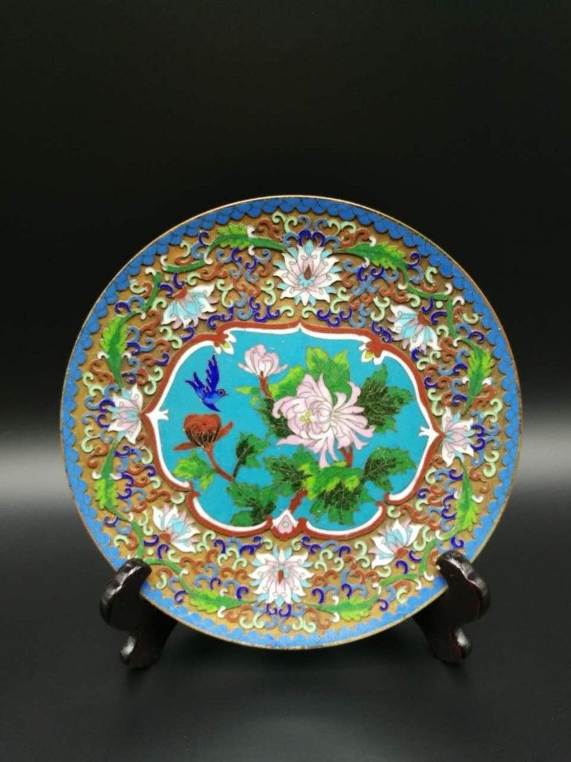 Chinese Cloisonne fast Plaque - 4