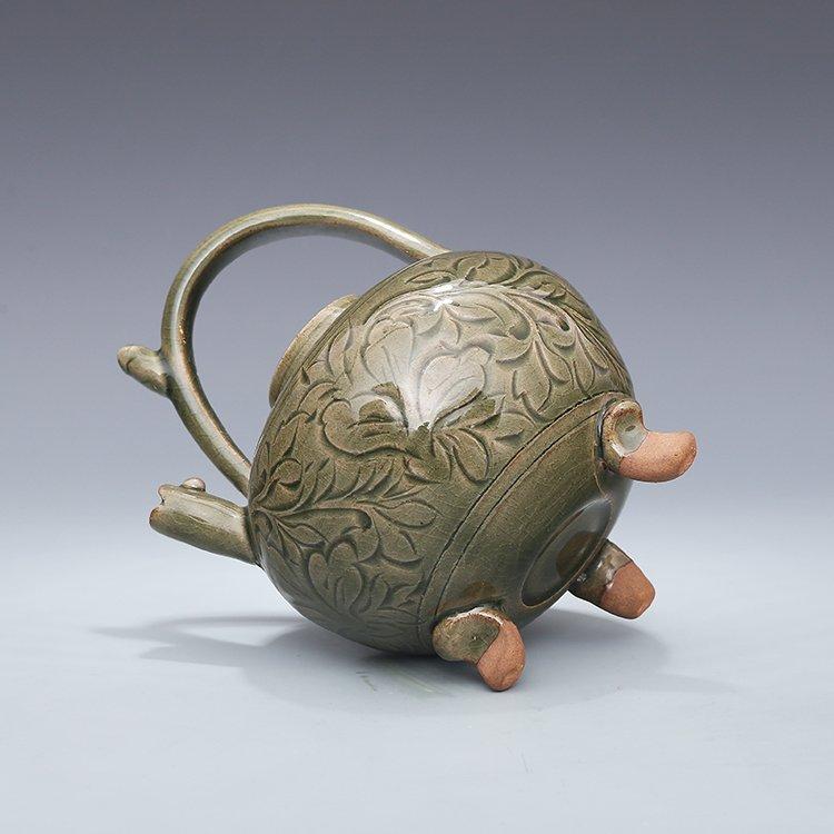 Chinese Yaozhou kiln Sculpture Porcelain  Teapot - 6