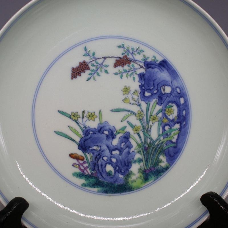 Chinese Doucai Porcelain Plate - 3