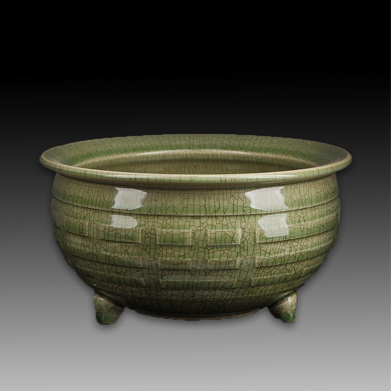 Chinese Green Tripod Censer