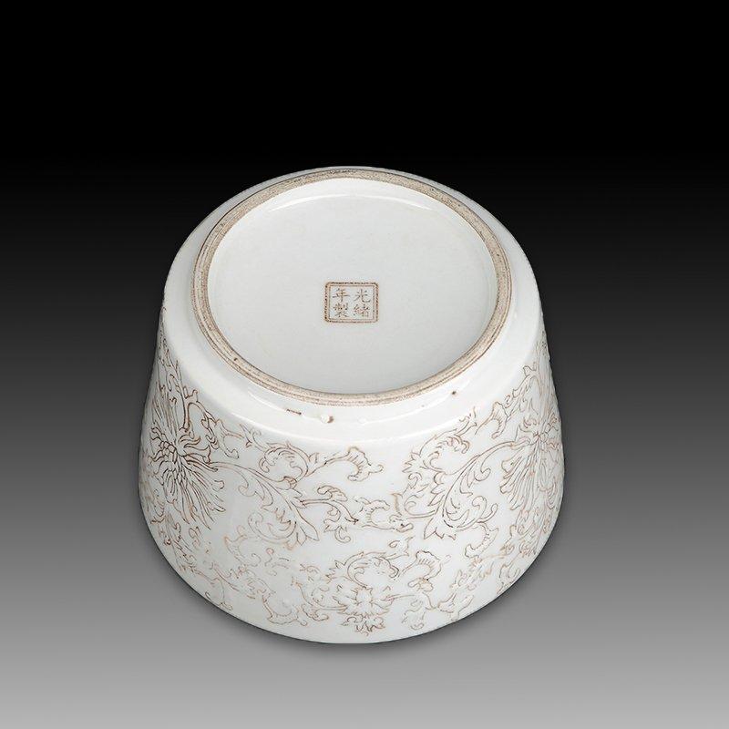 Chinese white Porcelain Brush pot - 3