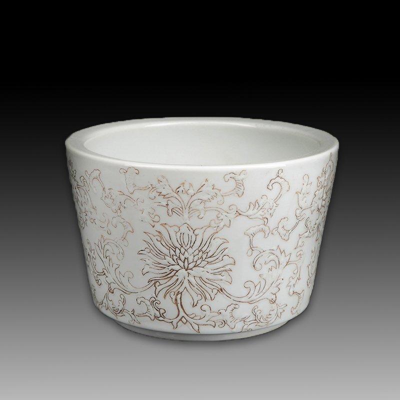 Chinese white Porcelain Brush pot - 4