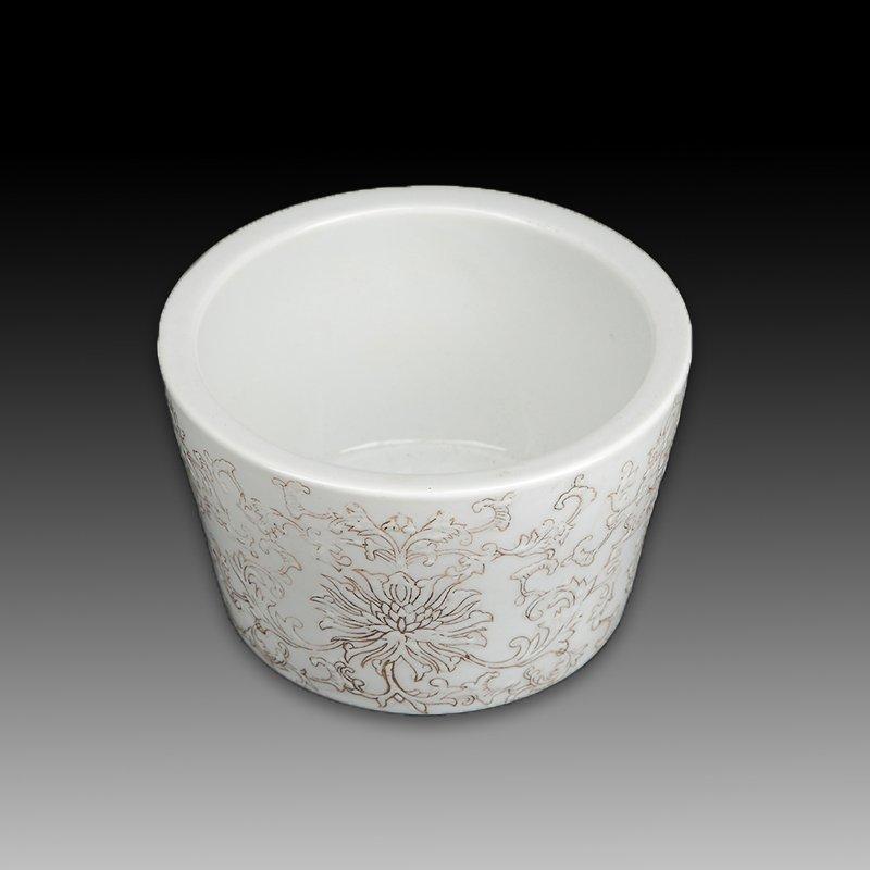 Chinese white Porcelain Brush pot - 5