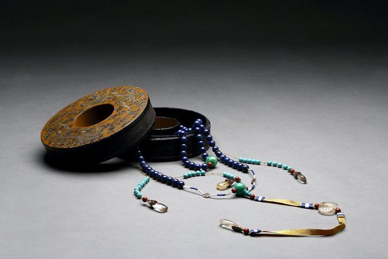 Chinese Lapis lazuli Court Style Necklace