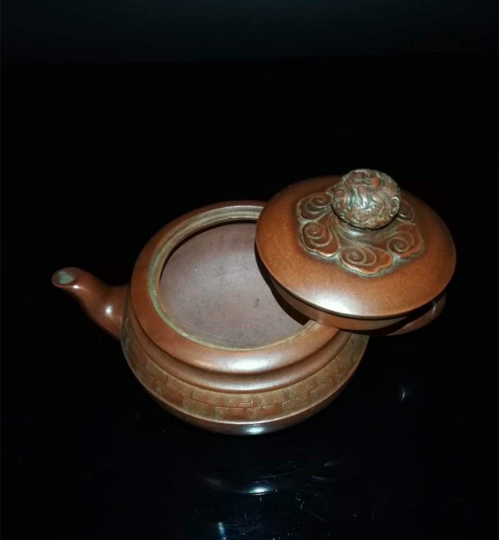 Chinese zisha teapot and cover.(Mark of Gu jingzhou) - 6