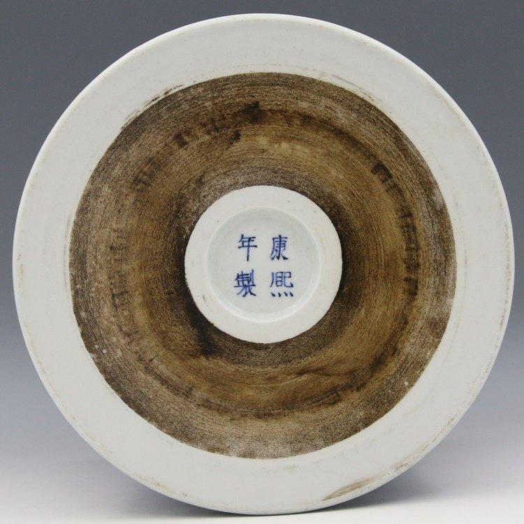 Chinese Blue And White Porcelain Brush Pot - 5