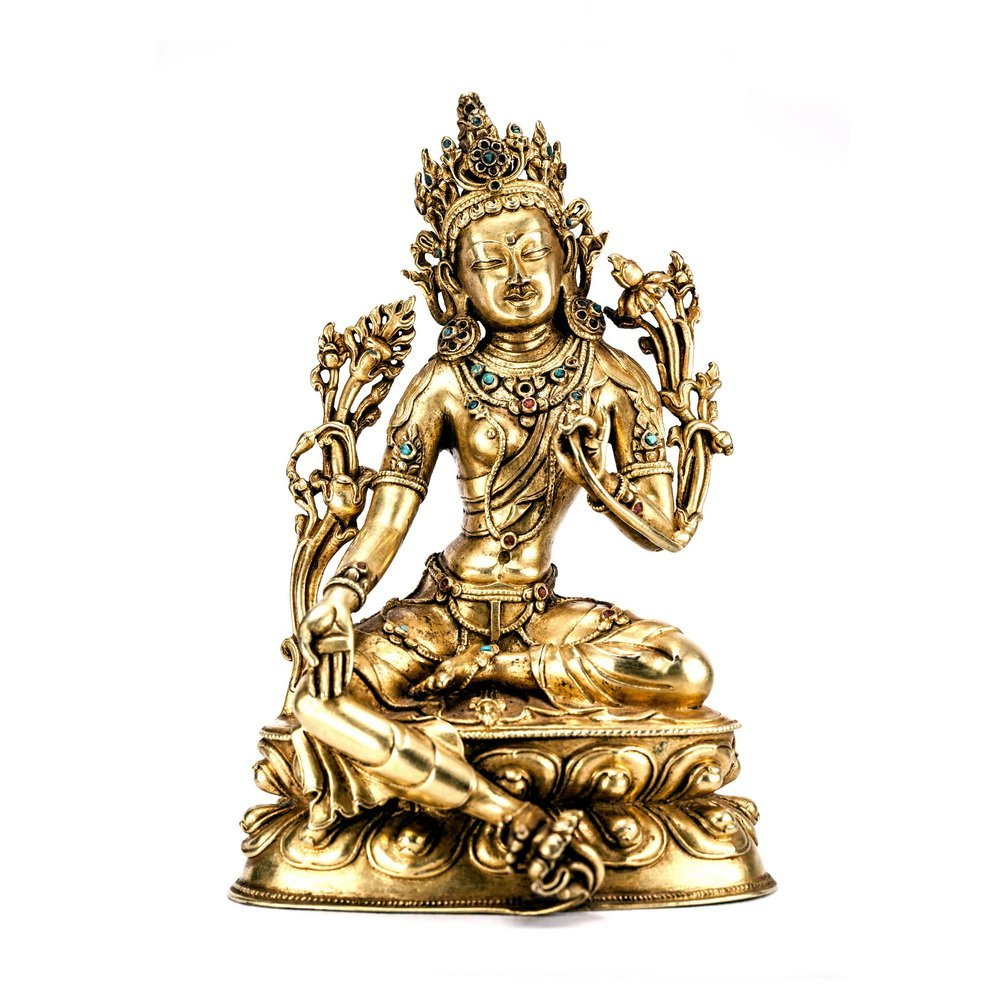 Chinese Qing Dynasty  Bronze Buddh