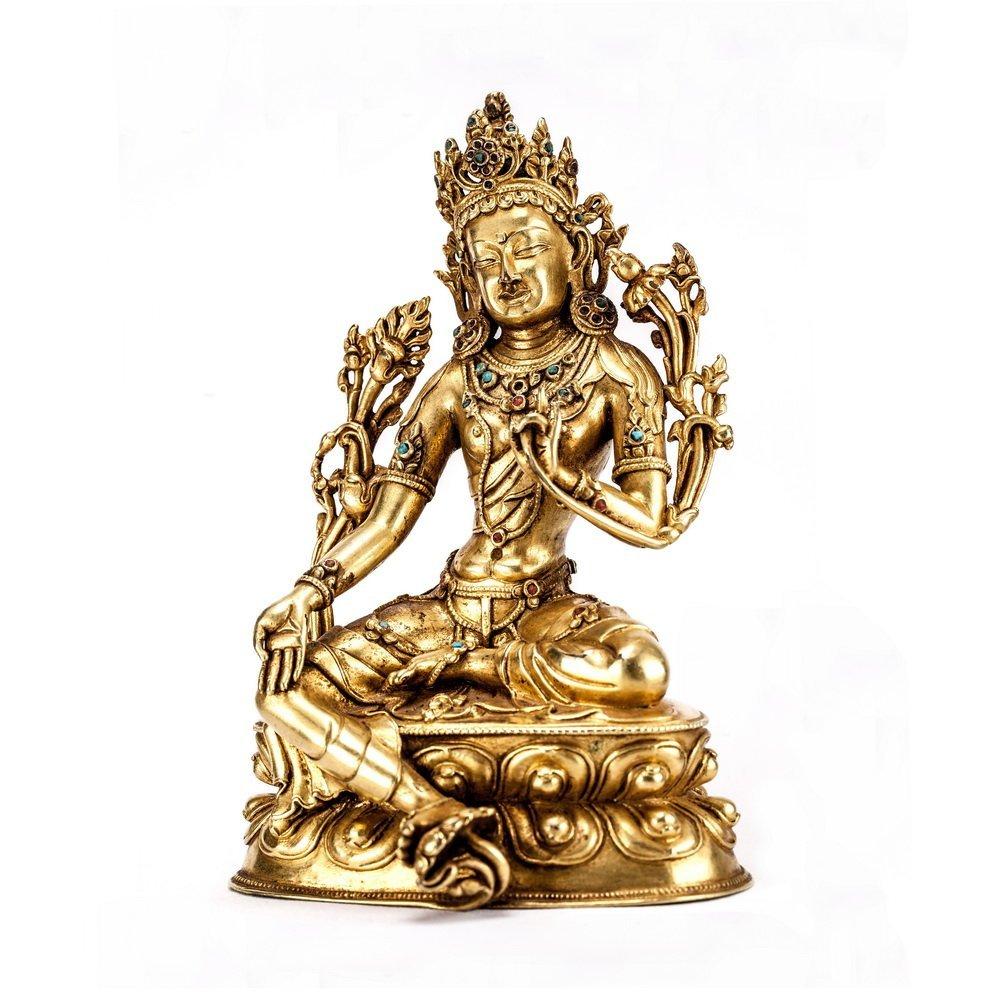 Chinese Qing Dynasty  Bronze Buddh - 2