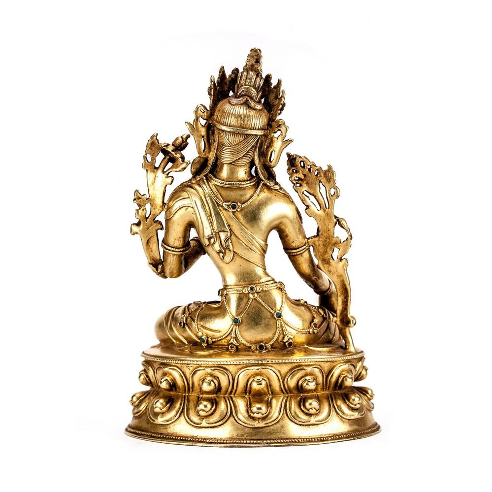 Chinese Qing Dynasty  Bronze Buddh - 4