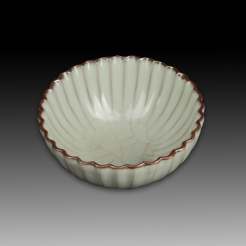 Chinese Song Style Porcelain Petals Bowl - 2