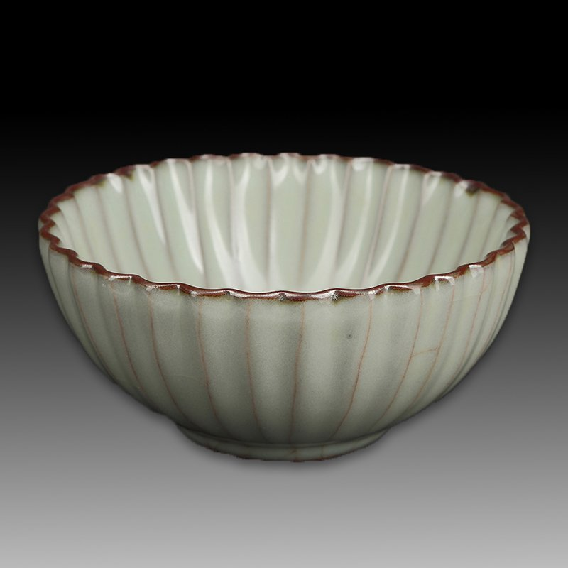 Chinese Song Style Porcelain Petals Bowl - 4