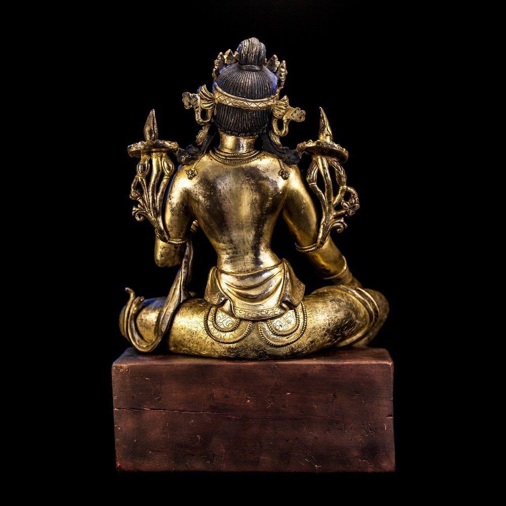 Chinese Qing Dynasty Bronze Buddha - 2