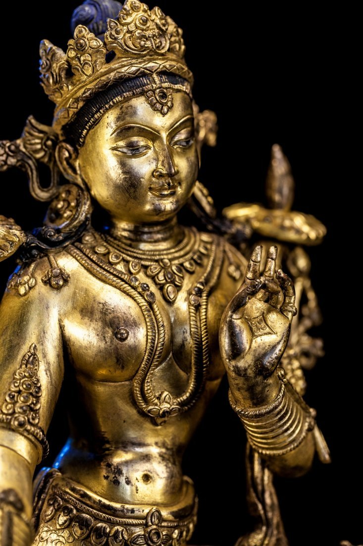 Chinese Qing Dynasty Bronze Buddha - 4