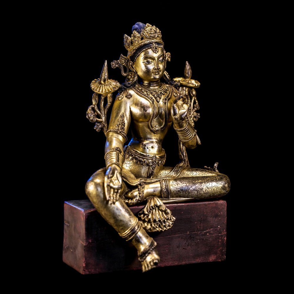 Chinese Qing Dynasty Bronze Buddha - 5