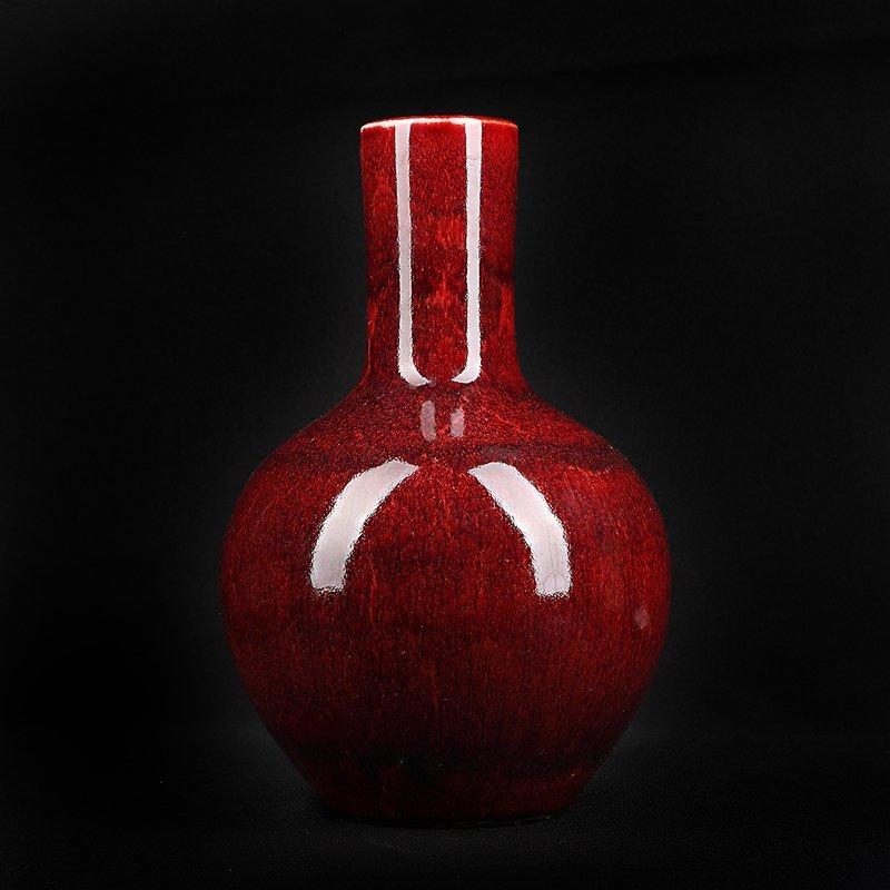 Chinese Oxblood Jun Glazed Vase
