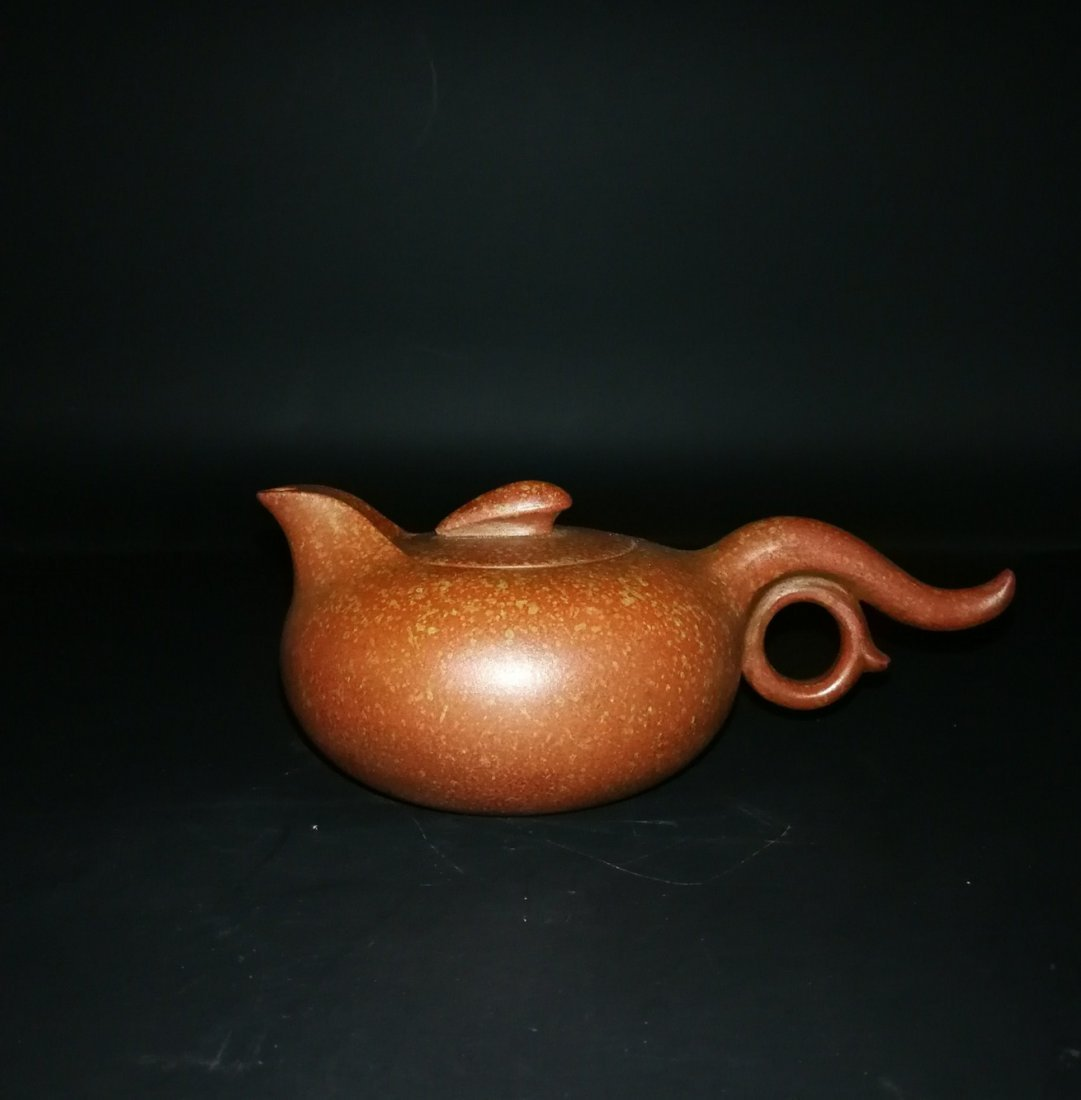 Chinese zisha teapot and cover.(Mark of Chen Mingyuan)